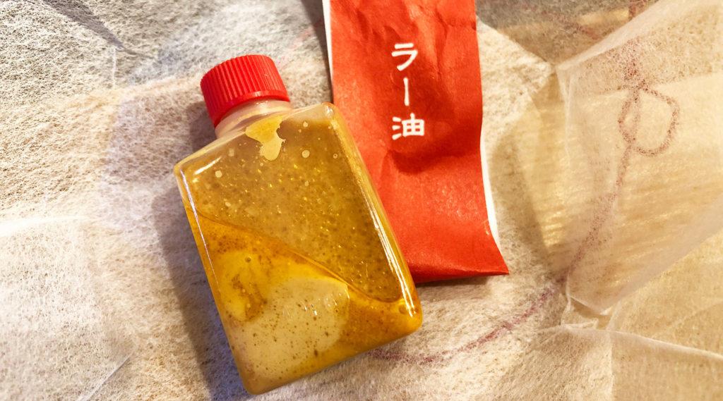 豆腐にラー油