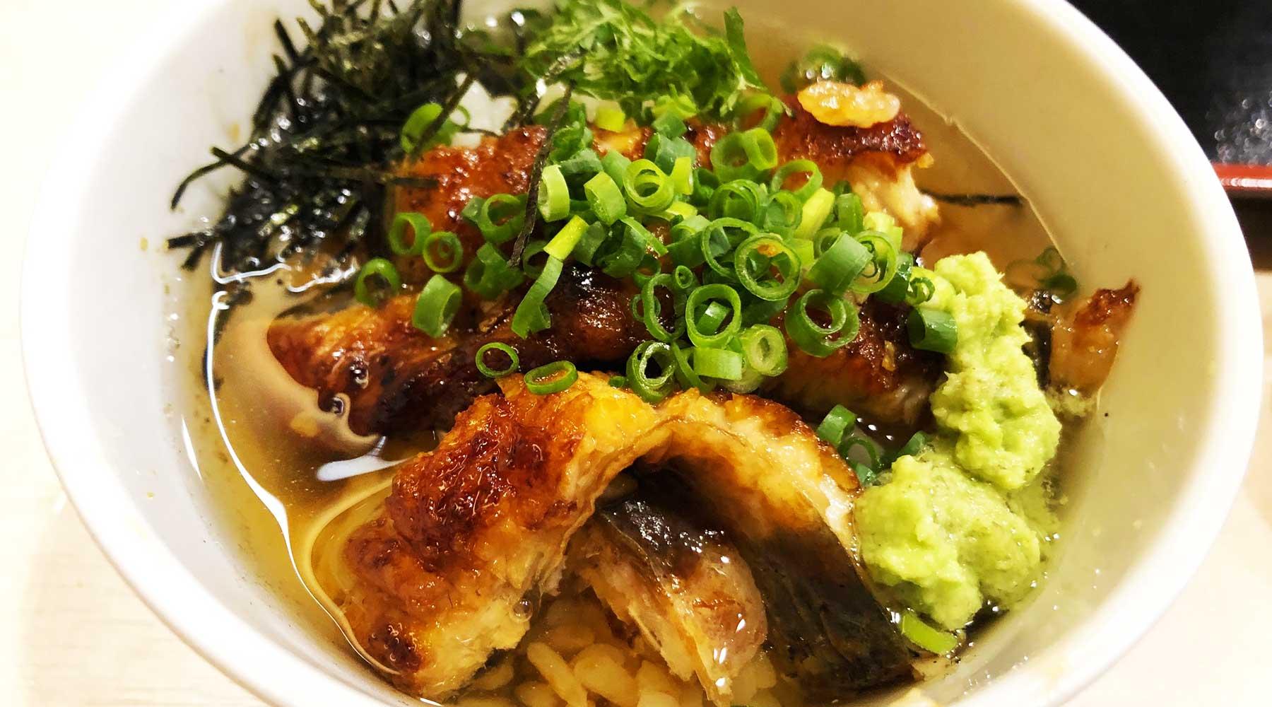 浦和・満寿家のひつまぶし、出汁茶漬け