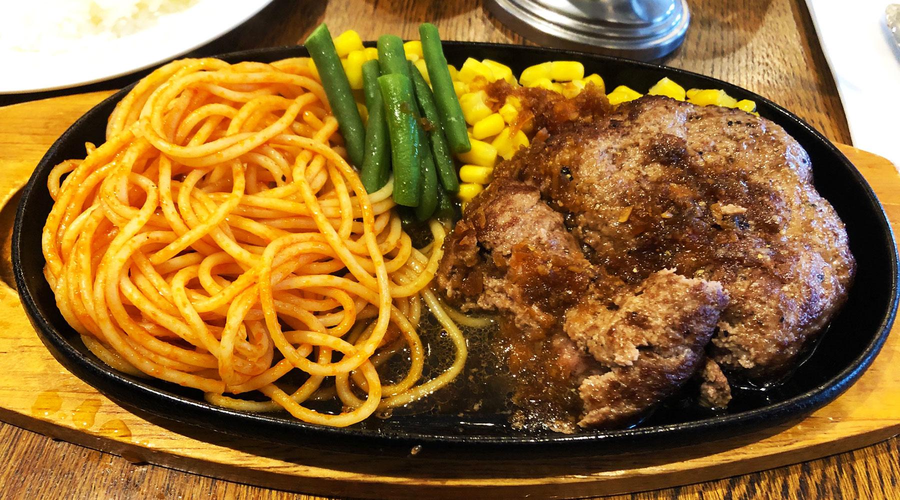 ビアレストラン・アイルのハンバーグステーキ肉汁
