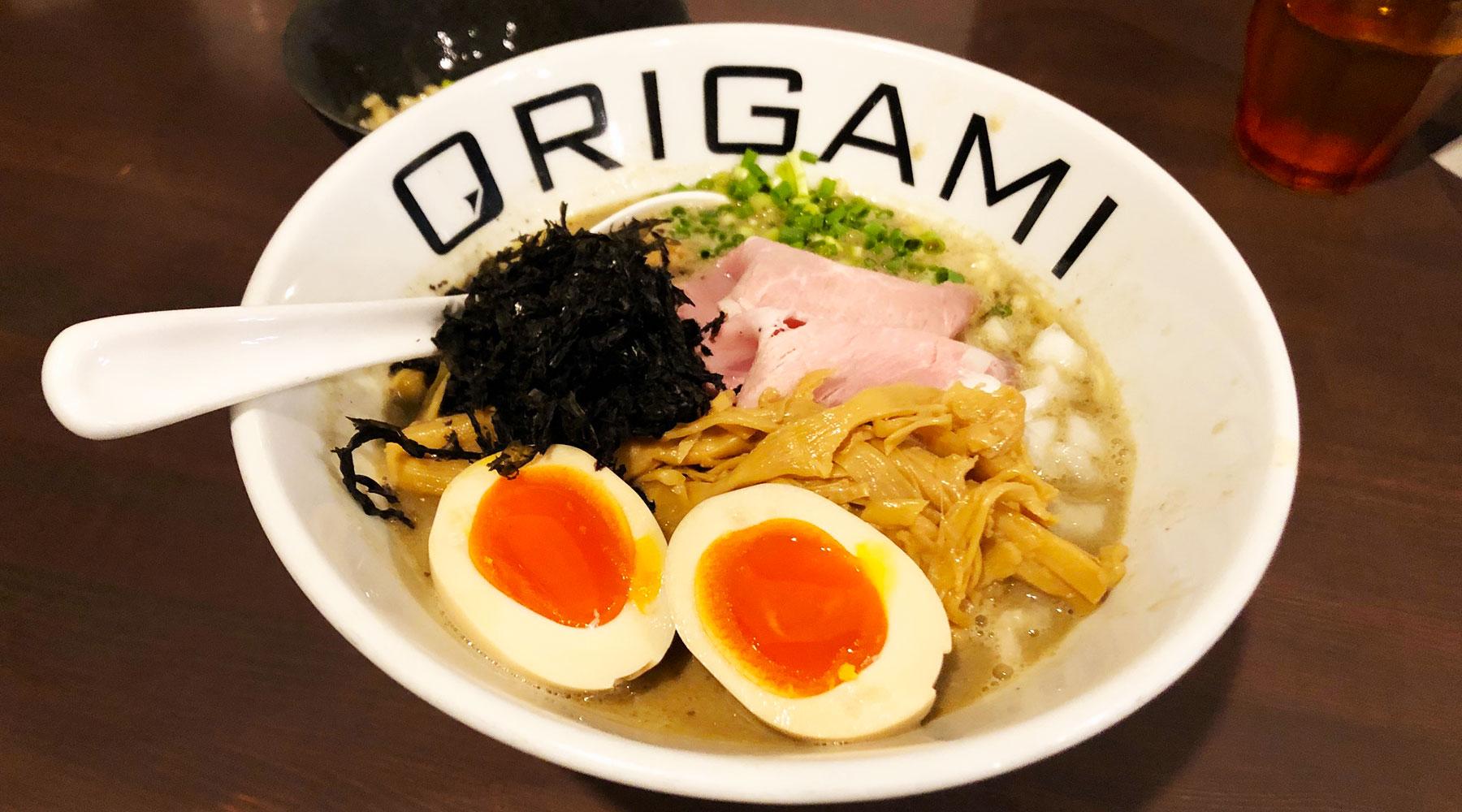 麵屋ORIGAMI・新メニューの煮干しそば(800円)