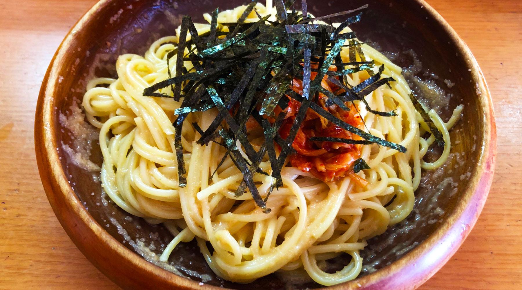 浦和・スパゲティピーノのたらことキムチのスパゲティ